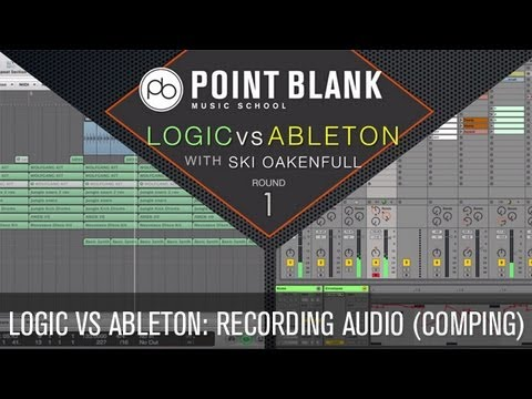 Logic VS Ableton: Recording Audio (Comping)