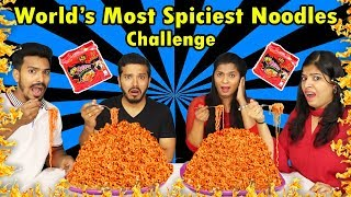 WORLD SPICEST NOODLES Eating Challenge | Spicy Korean Noodles Eating Competition