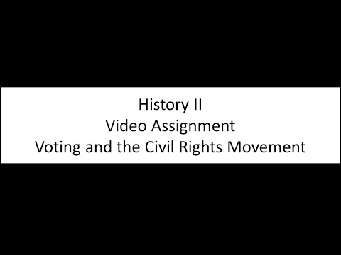 Voting and the Civil Rights Movement