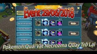 Pokemon:Quái Vật Necrozma Quay Trở Lại Trong x10|Event Và Thời Tiết 29/06/2018
