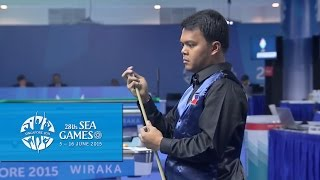 Billiard - Men's Singles Quarterfinals (Day 4) | 28th SEA Games Singapore 2015