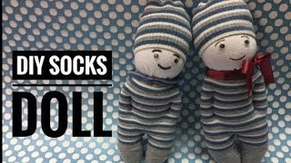 DIY/ Easy Socks Doll 🧦 / Baby Doll Making/ Easy Craft for kids/ Easy handmade Doll for kids