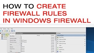 🔴 How to Create Firewall Rules in the Windows Firewall