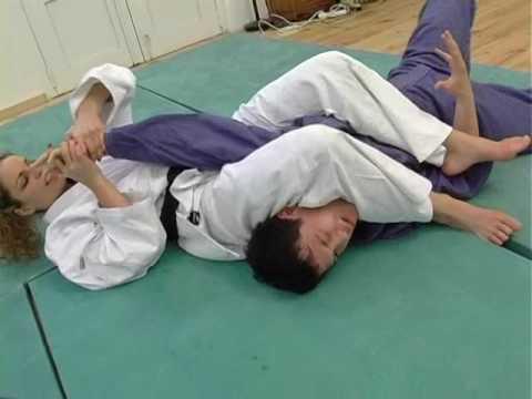 Karate woman beats up man
