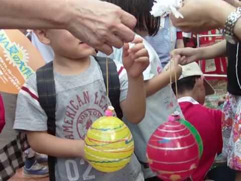 日僑學校園遊會 釣水球