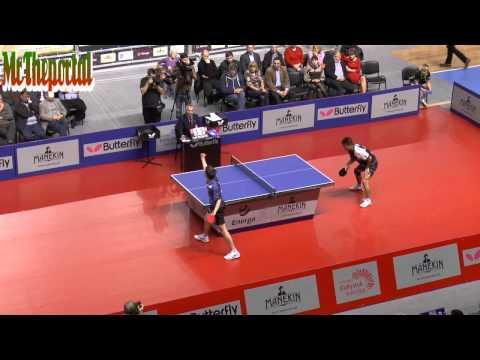 Table Tennis Polish League 2014/15 - Chen Weixing Vs Leonardo Mutti -