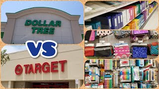 DOLLAR TREE VS TARGET SCHOOL SUPPLIES
