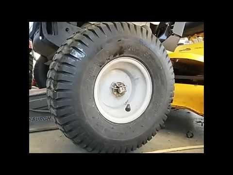 Cub Cadet / MTD Riding mower front wheel bushings How to / DIY..
