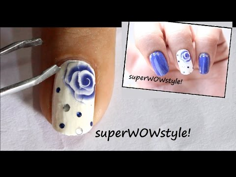 Nail Water Decals ❤ Rose Nail Designs With Water Decals ❤ Step by Step How to Use Nail Decals