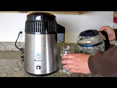 How To Easily Distill Water At Home Using The Megahome Countertop Water Distiller Model: MH943SB