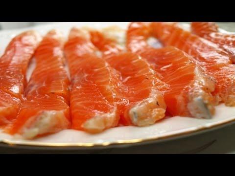 Очень простой, супер способ, засолить красную рыбу часть 1