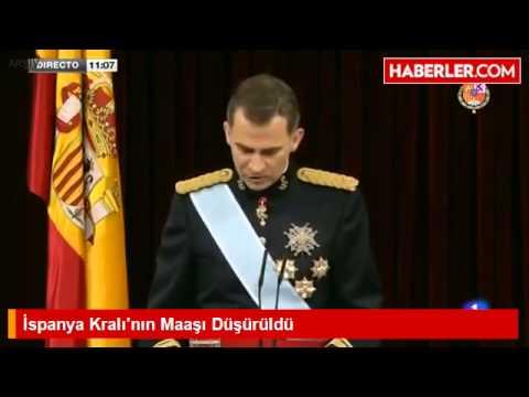 İspanya Kralı'nın Maaşı Düşürüldü. (Salary of the King of Spain was dropped .)