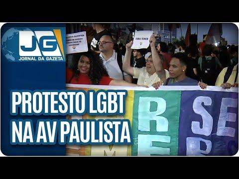 Protesto LGBT na Av  Paulista