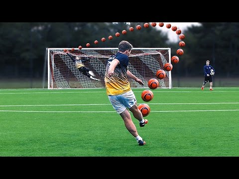 Amazing Knuckleball Free Kick Challenge - Germany vs Russia