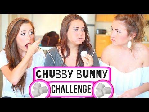 Chubby Bunny CHALLENGE ❤ Caitlin Bea and Ayydubs