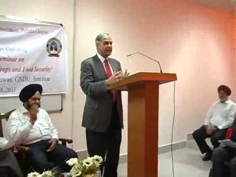 VMT Speech on Genetically Modified Crops & Food Security