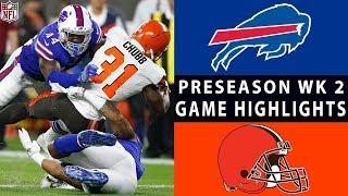 Bills vs. Browns Highlights | NFL 2018 Preseason Week 2