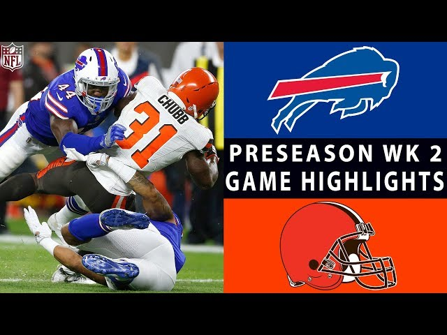 Bills vs. Browns Highlights  NFL 2018 Preseason Week 2
