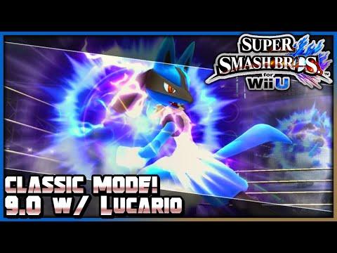 Super Smash Bros. Wii U (1080p60): Classic Mode w/ Lucario (9.0 Difficulty)