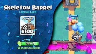 Clash Royale (SKELETON BARREL) Unlocked!!