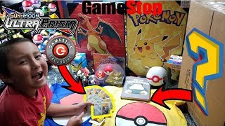 GAMESTOP GIVES YOU FREE POKEMON CARDS!! OPENING A RARE GAMESTOP MYSTERY BOX! TONS OF POKEMON STUFF!