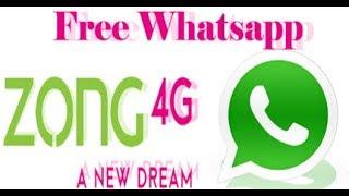 Zong Free Unlimited Whatsapp New Code 2018