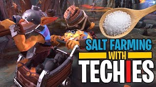 Salt Farming with Techies - DotA 2 Funny Moments