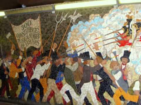 Newport chartist mural 2 youtube for Chartist mural newport