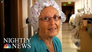 Inspiring America: Meet America's Oldest Working Nurse | NBC Nightly News