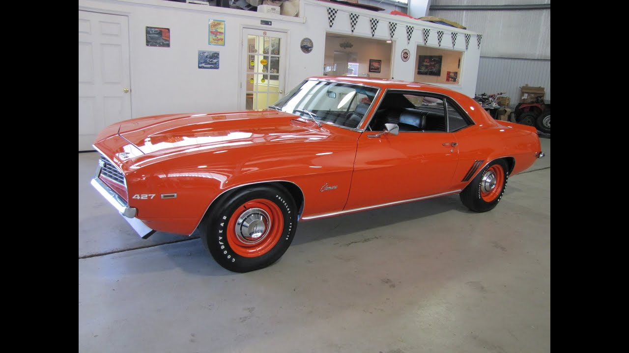 Muscle Car For Sale 1969 Camaro Zl1 New Motor Youtube