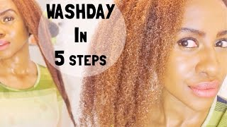 5 Step Wash Day Routine for my 4C Natural Hair