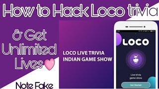 Loco Trivia - How to hack loco trivia and get unlimited lives | get unlimited lives