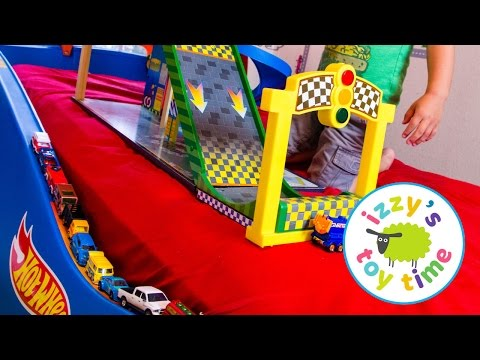 Hot Wheels Cars for Kids | Hot Wheels Bed with Fast Lane and KidKraft! Fun Videos for Children