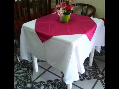 Toalhas de papel para mesas