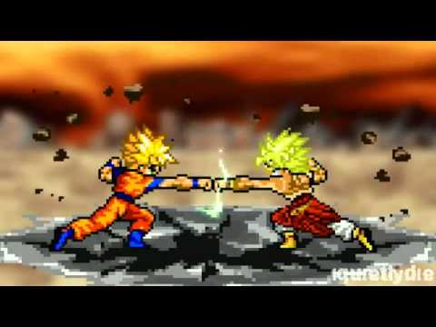 Goku Vs Broly Part 1 (reupload) video