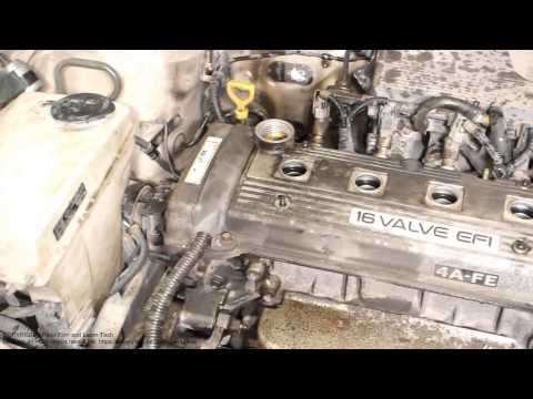 How to replace camshaft cover Toyota Corolla. Years 1991 to 2002.