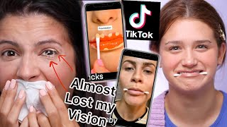 Play this video TRYING THE 10 MOST POPULAR TIKTOK BEAUTY HACKS PART 2