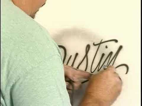 How to Airbrush : Writing Cursive Letters with Airbrushes