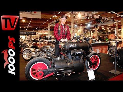 Dampfmotorrad Black Pearl von Revatu Customs @ Custombikeshow 2014