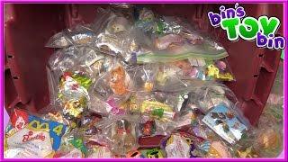 GIANT SURPRISE FAST FOOD TOY YARD SALE HAUL! Disney, Barbie + 100s MORE!   Bin's Toy Bin