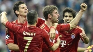 Bayern München vs Barcelona 4-0 2013 Alle Tore & Highlights | Champions League (HD)