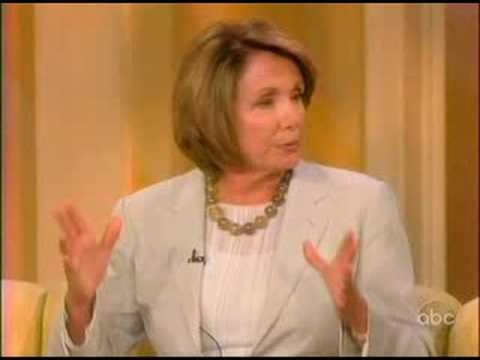 House Speaker Nancy Pelosi on The View