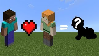 How to Breed STEVE and ALEX in Minecraft ( Bedrock , Java , MCPE , Xbox , Ps4 )