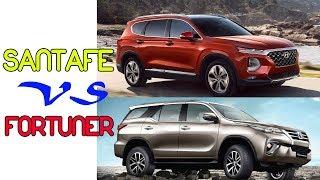 So sánh Toyota Fortuner và Hyundai SantaFe 2019 nên chọn xe nào #txh