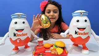 Pretend Play Food Toys and Kinder Surprise Egg for Kids