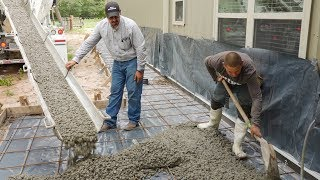 Concrete sidewalks for a Barndominium - The Barndominium Show E139