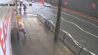 [car undercut a motorcyclist] Video