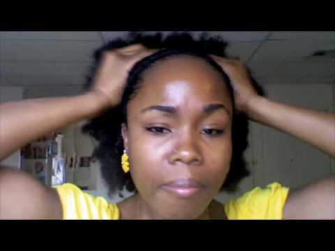 Natural Hair Puff With Side Braids (Tutorial)
