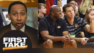Stephen A. Smith not convinced by Magic Johnson's public support of Luke Walton   First Take   ESPN