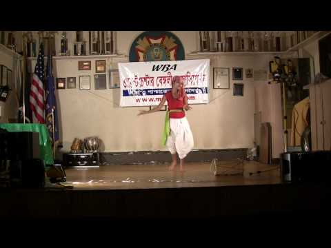Bengali Folk Dance Permormed By Rommyani Basu video